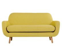 jonah 2 seater sofa, saffron