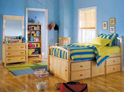kids bedroom decoration a captainu0027s bed, named for designs used aboard ships, is a great solution VNOZVMP