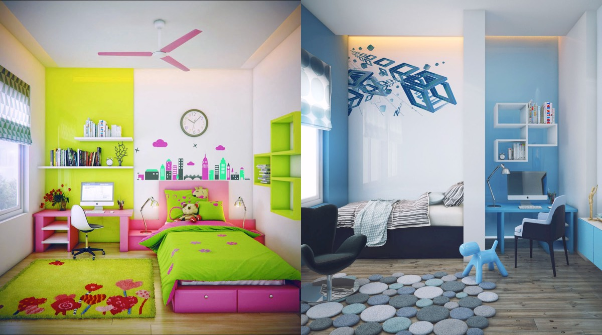 kids room super-colorful bedroom ideas for kids and teens KSRWPLP