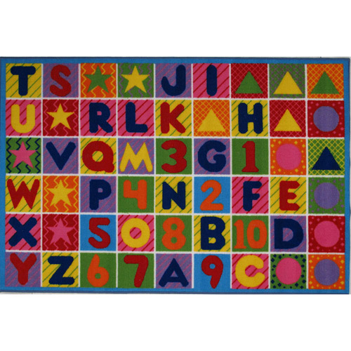 kids rugs fun rugs numbers and letters kidsu0027 rug QWAVDGN