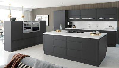 kitchen units handleless matt YXAJVVU