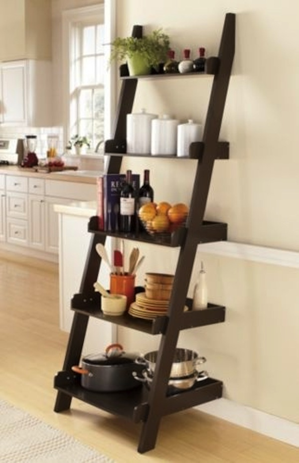 ladder shelves ladder shelf in kitchen TCMGSED