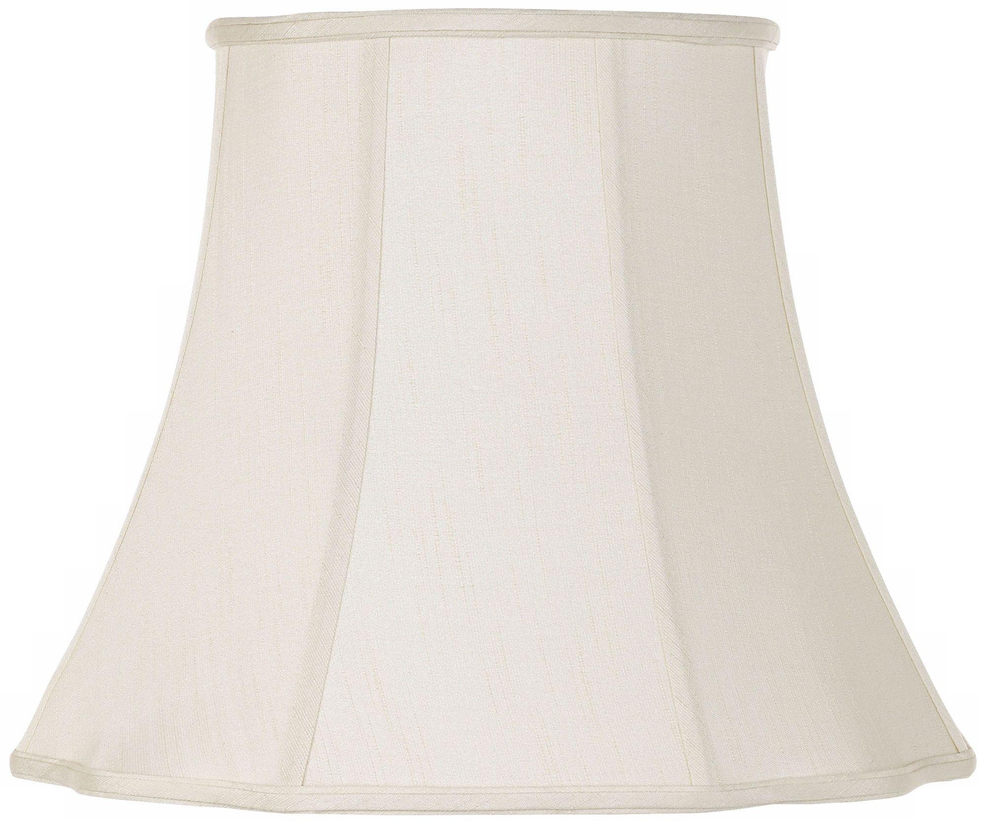 lamp shades creme bell curve cut corner lamp shade 11x18x15 (spider) PIAZRFF