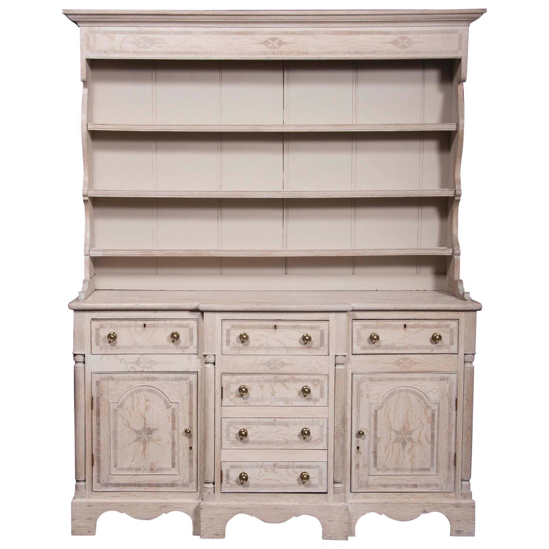 large inlaid limed oak welsh dresser for sale at 1stdibs EBDFBGX