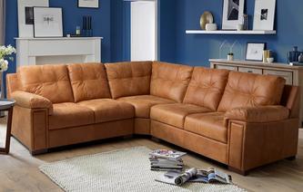 leather corner sofa magnus 3 piece corner sofa saddle NVYTDDJ