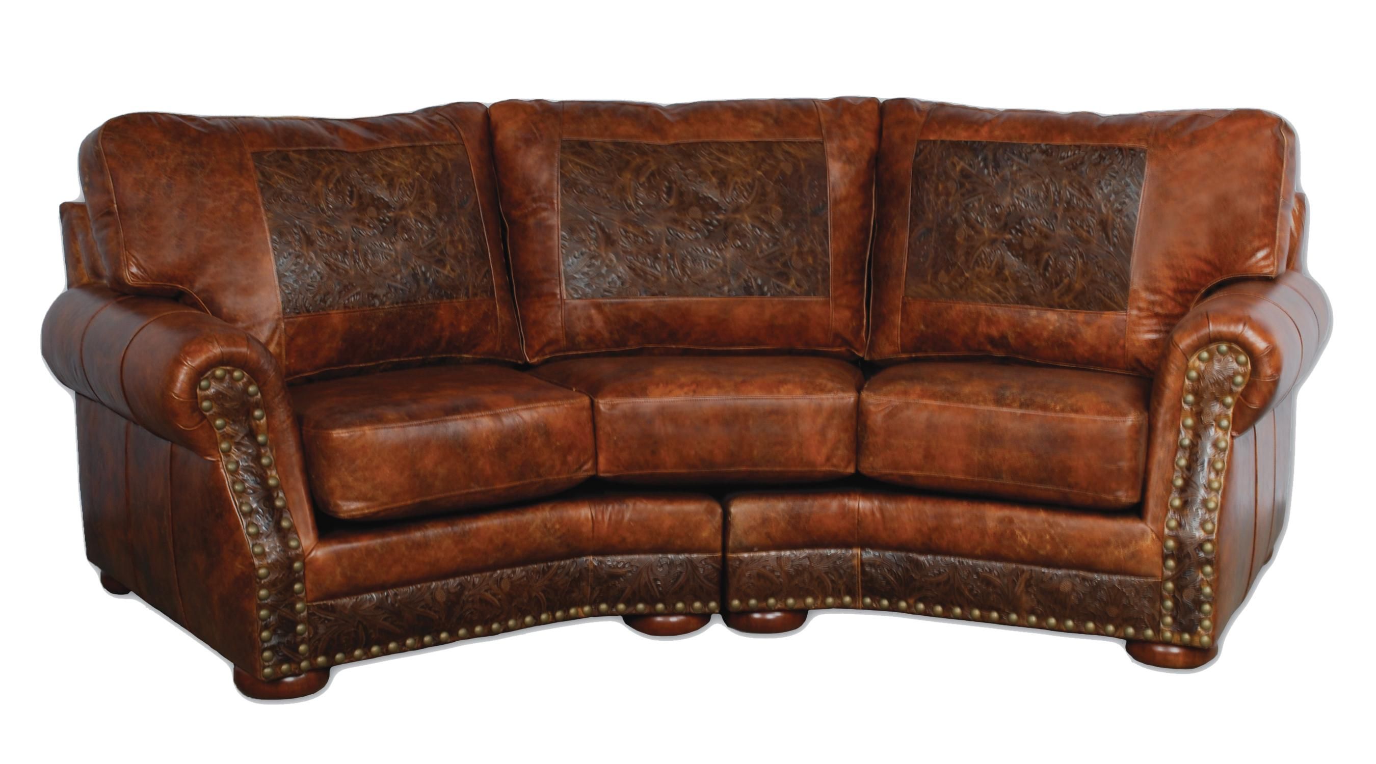 leather furniture cameron ranch conversaton sofa antiquity ember u0026 cosmopolitian tooled  leather LFJAVPN