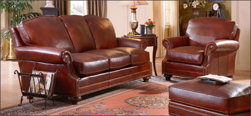 How to care for the leather furniture How to treat leather furniture