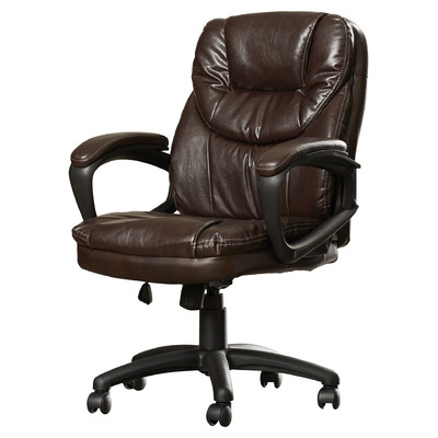 leather office chair musgrove mid-back desk chair AJIQJAT