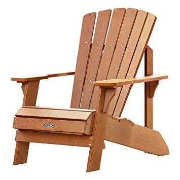 lifetime faux wood adirondack chair, light brown - 60064 WSOBHWF