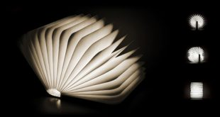 literal book light: portable lamp unfolds open like pages FWVGLPW