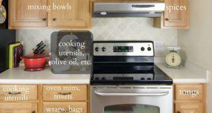 lots of kitchen organization ideas.