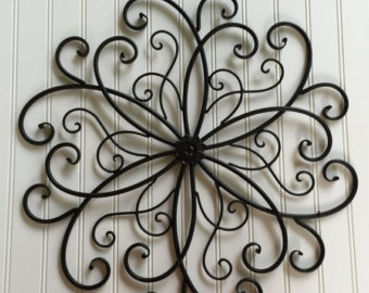metal wall art -black metal wall hanging - large metal wall decor -outdoor VKJGZZY