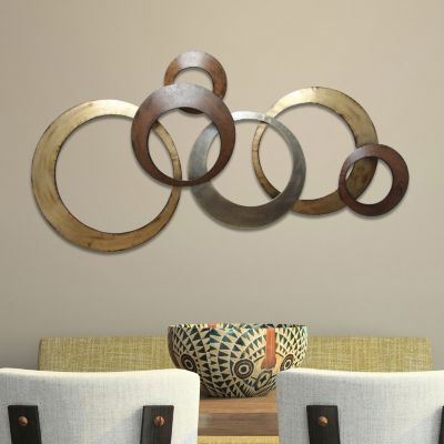 metal wall decor stratton home decor metallic rings wall decor SWTRVWE