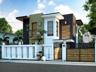 modern house design floor plan code: mhd-2015016 | 93 sq.m. | 4 beds | 2 baths GUBHUCC
