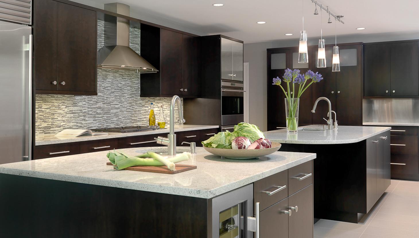 modern sky blue colour kitchen