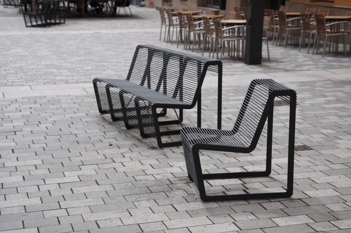 modern street u0026 site furnishings - urban furniture around the square WEMRLAI