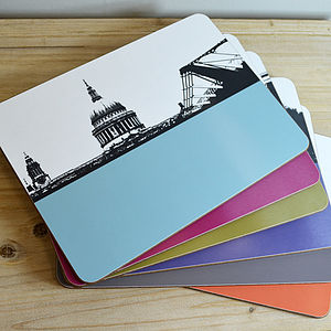 new london table mats set by the art rooms | notonthehighstreet.com AMBXDIU