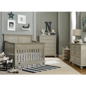 nursery furniture sets dolce babi naples 3 piece full panel nursery set in grey satin AORMIPU