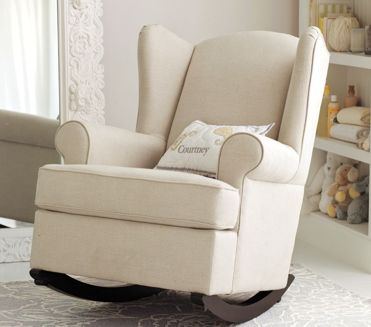 nursery rocking chair upholstered rocking chair for nursery MRMGFUE