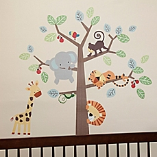 nursery wall decals image of lambs u0026 ivy® treetop buddies wall decals (set of ... TBPAKLG
