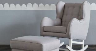 nursing chair hobbe tufted grey rocking chair nursery furniture the life creative WOLCKTU