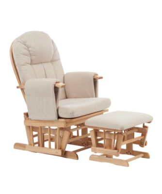 nursing chair mothercare natural reclining glider chair with beige cushion AYJOHBF