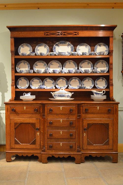 oak and mahogany welsh dresser ... LBPNLLW