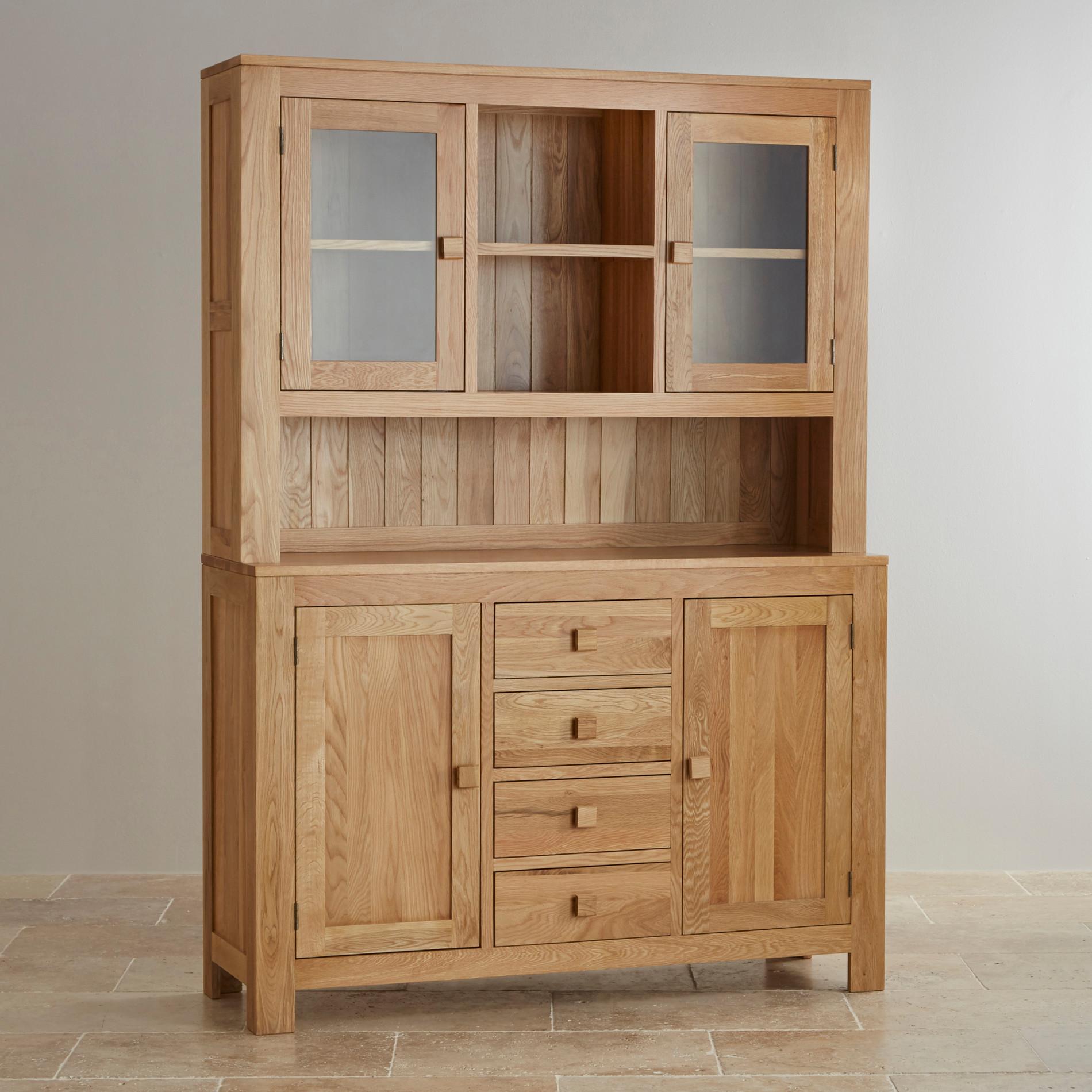 oakdale large welsh dresser in natural solid oak BQILQUM