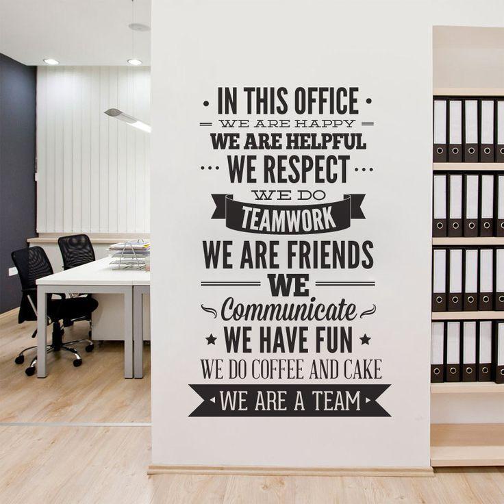 Charmant Office Decor Tipografía De Decoración De Oficina   En Esta Oficina  Tipografía última Etiqueta GPBWMQH