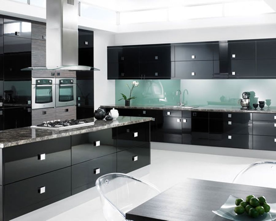 one color fits most: black kitchen cabinets RGQRLZP