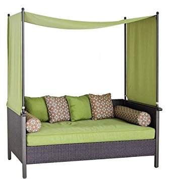 outdoor daybed outdoor day bed, green. relax u0026 enjoy this wicker daybed. this wicker VQKJTSK