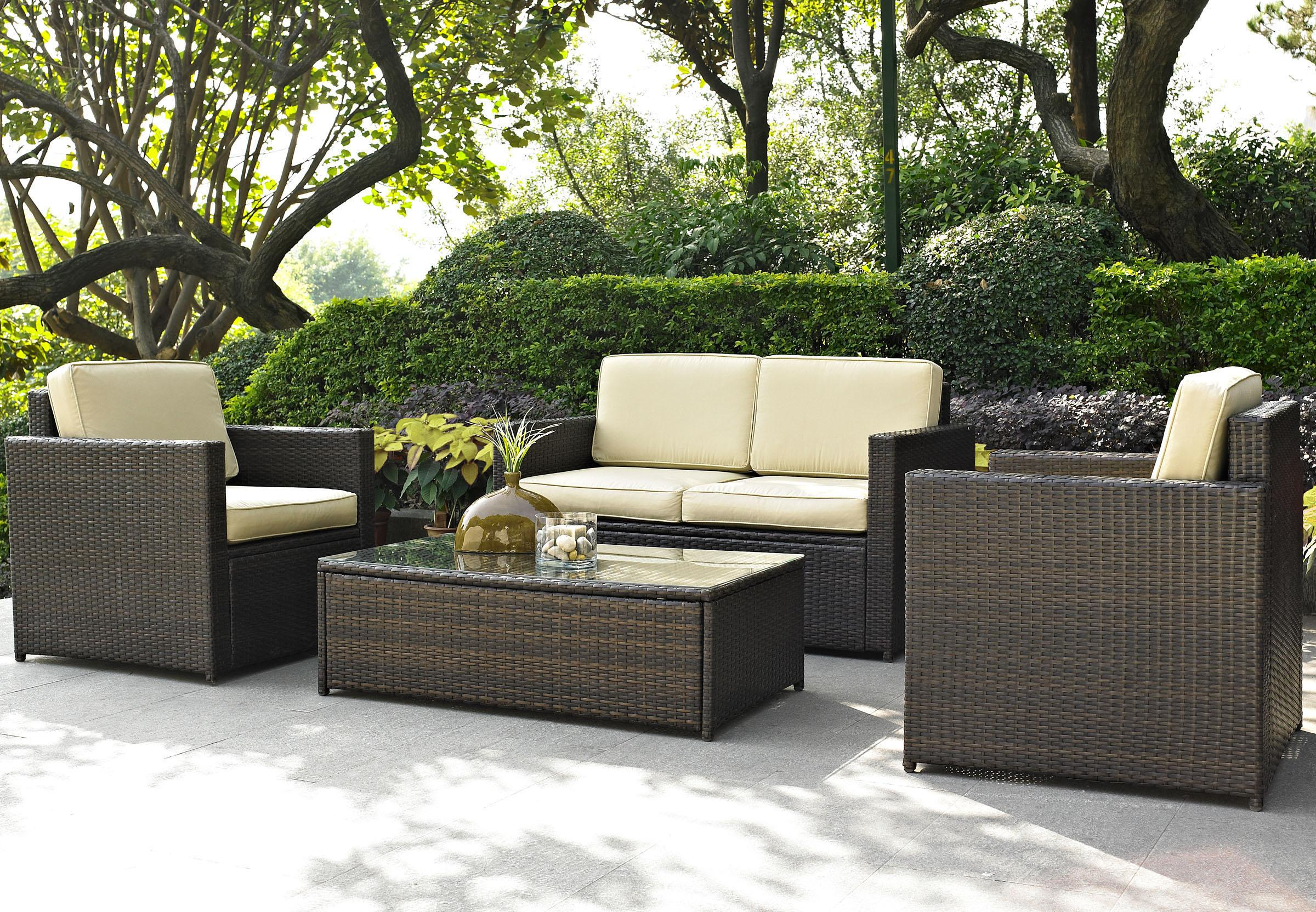 outdoor furniture comfortable dark wicker walmart patio furniture clearance on concrete  flooring for elegant NHUPAHZ
