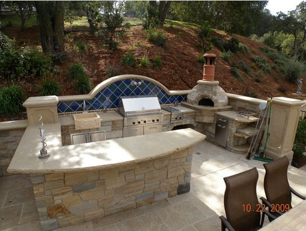 outdoor kitchen ideas outdoor kitchen designs featuring pizza ovens, fireplaces and other cool  accessories ABLWHBY