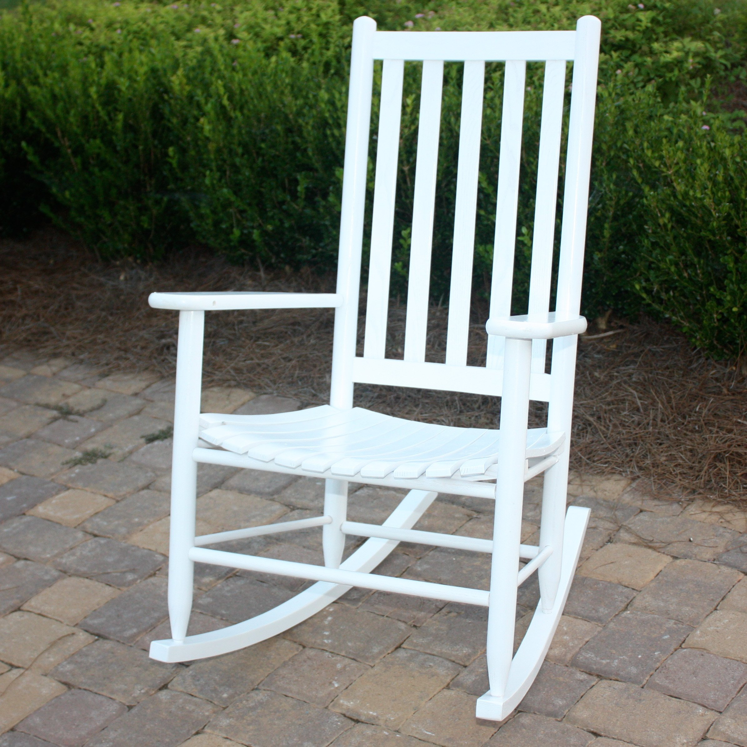 outdoor rocking chairs dixie seating company outdoor/indoor georgetown slat rocking chair -  walmart.com GOTLNOU