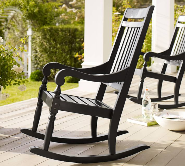 outdoor rocking chairs salem rocking chair | pottery barn SFBPDUJ