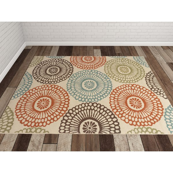 outdoor rugs bungalow rose douane orange/brown area rug u0026 reviews | wayfair VBBAQDE