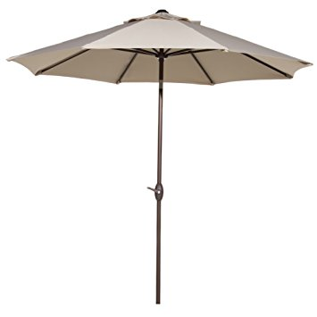 outdoor umbrella abba patio 9u0027 patio umbrella outdoor table market umbrella with push button NJMMZUV