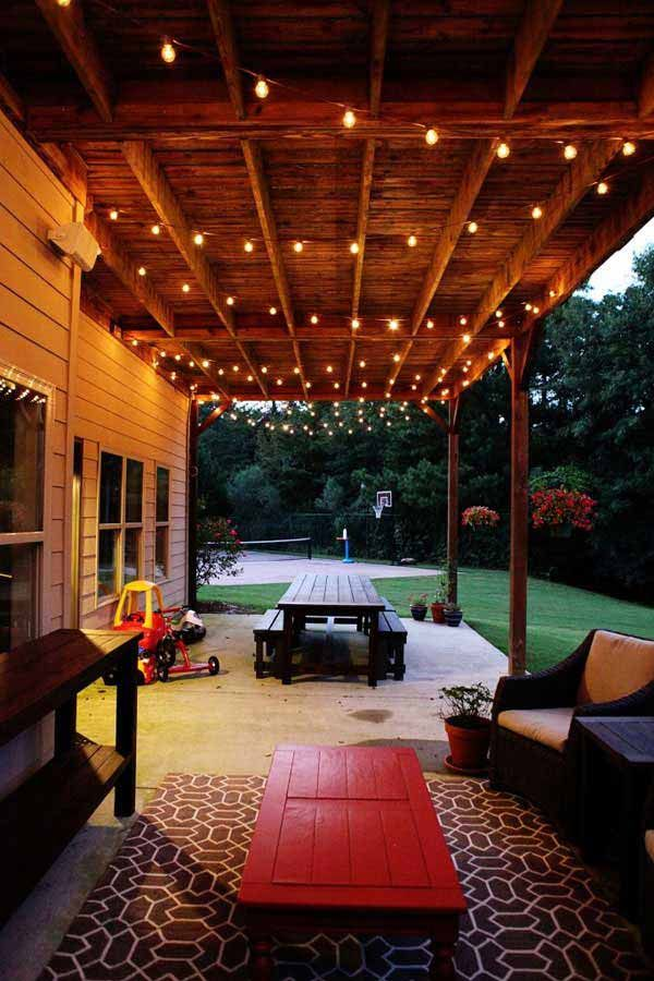 Patio Lights 26 Breathtaking Yard And String Lighting Ideas Will Fascinate You Nmhkpvp