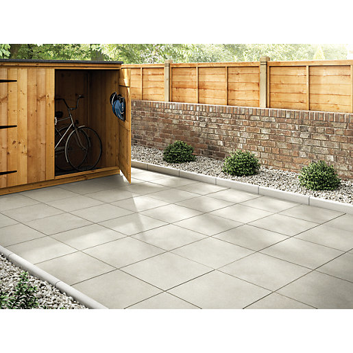 Patio Slabs Marshalls Richmond Smooth Natural 450 X 450 X 32mm Paving Slab  JSSUVNI