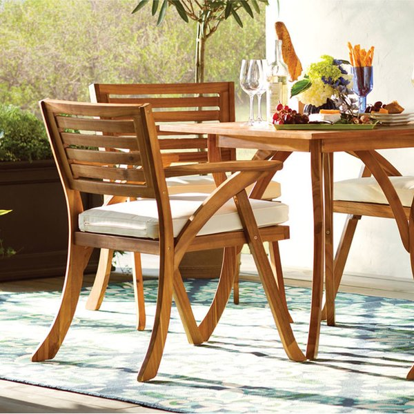 patio table wood patio furniture RYCMLGY