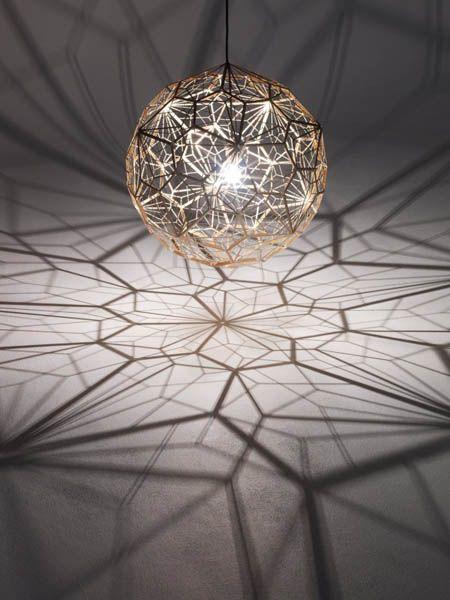pendant light by tom dixon, etch web lamp, unique lighting design ZWCJGDU