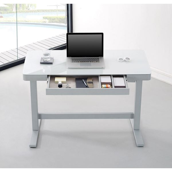 picture of adjustable height desk, white *d RMTESBA