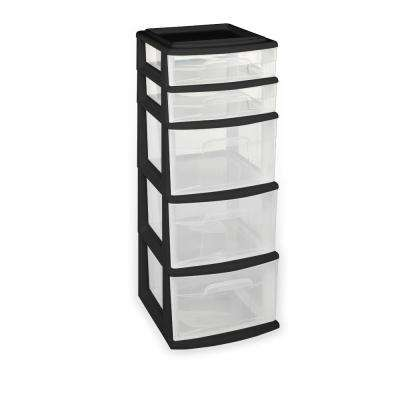 plastic storage drawers 5-drawer polypropylene medium cart EWRPZDO