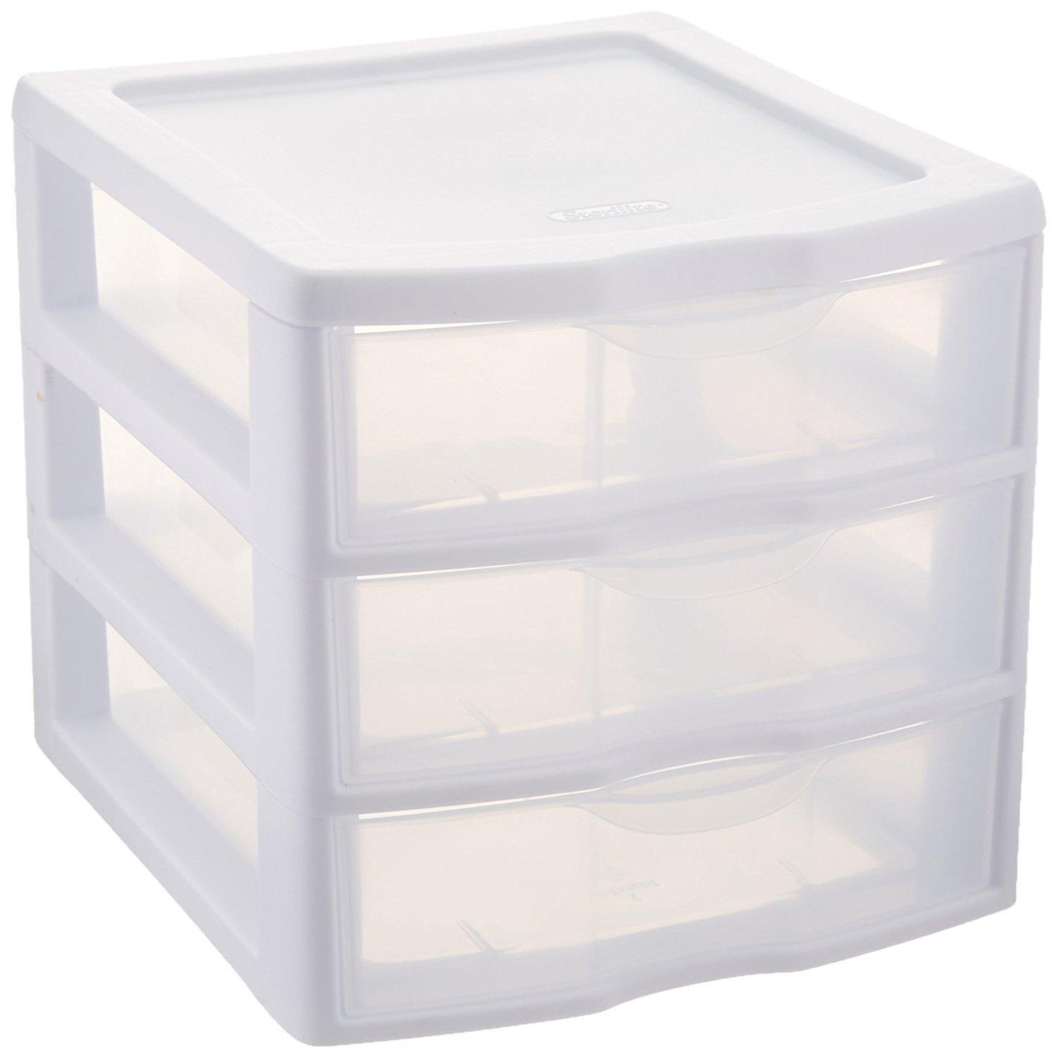 Plastic Storage Drawers Amazon Com Sterilite Clearview  Storage Drawer Organizer Home U