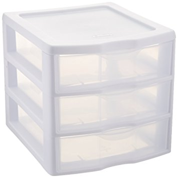 plastic storage drawers sterilite clearview 3 storage drawer organizer UOHPVUN