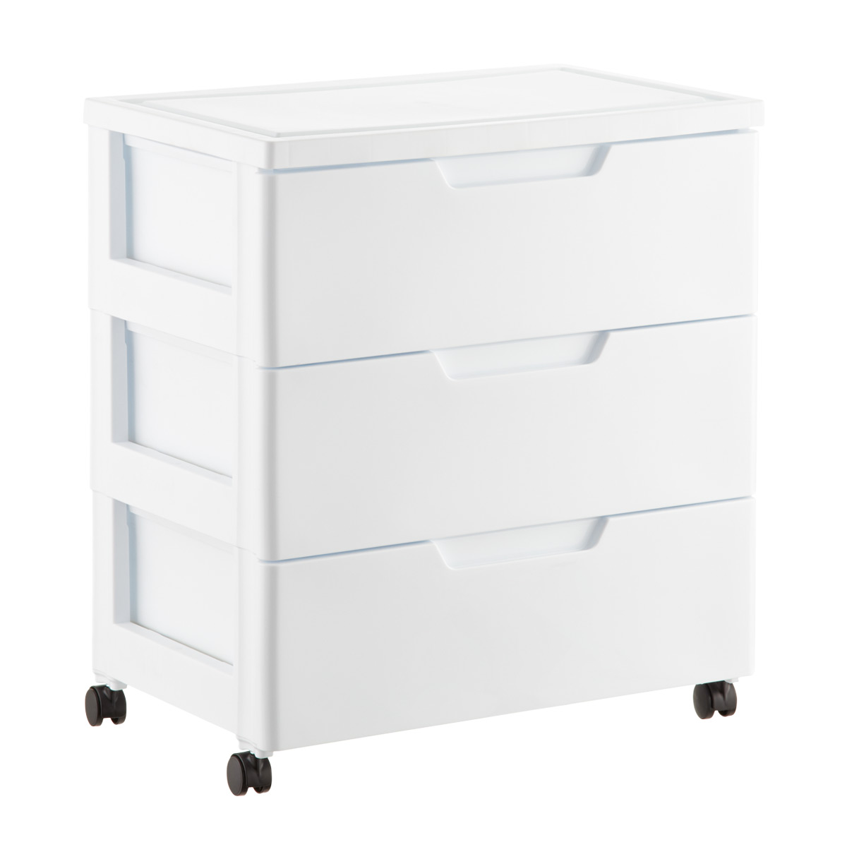 plastic storage drawers white 3-drawer premium plastic storage chest with wheels SCGACEQ