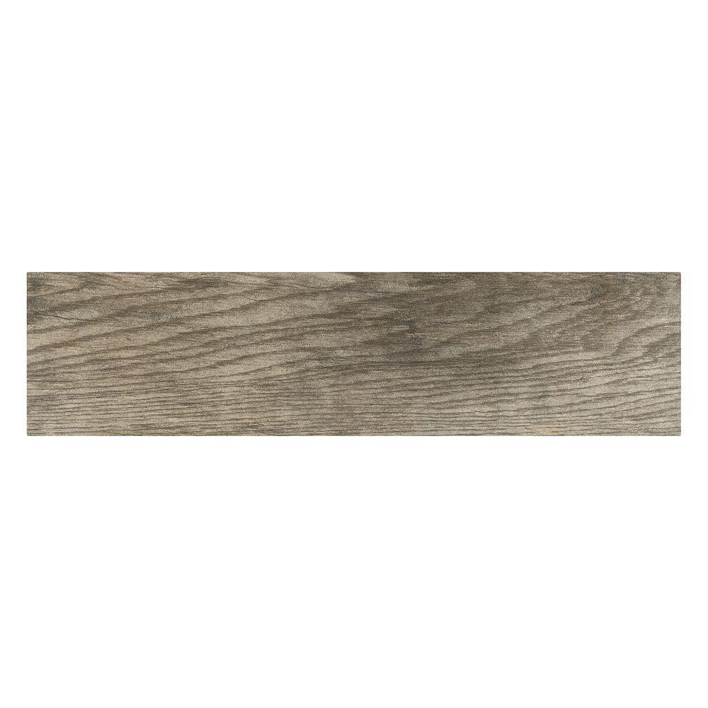 porcelain tile marazzi montagna rustic bay 6 in. x 24 in. glazed porcelain floor and UMGRQEX