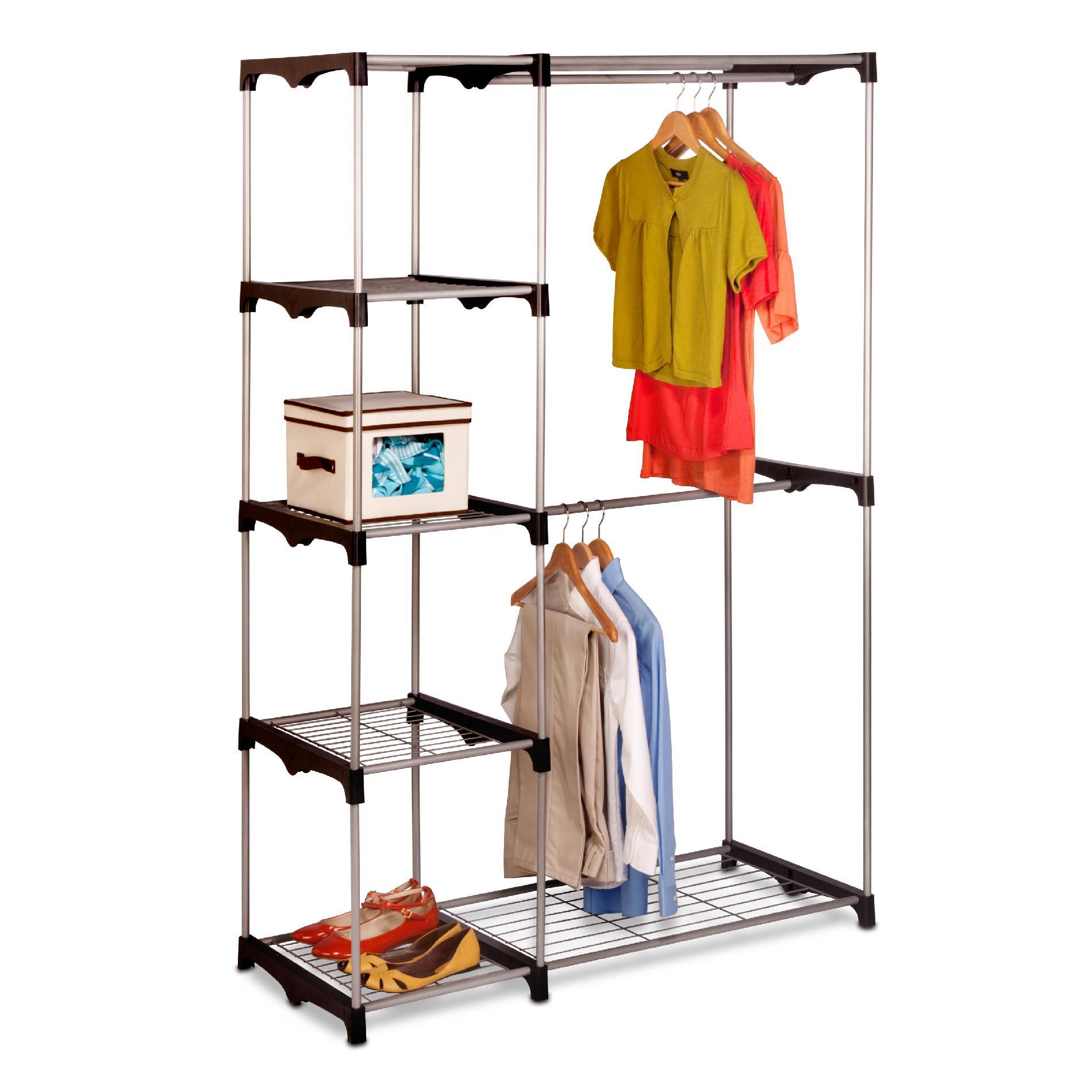 portable closet honey can do wrd-02124 double rob freestanding closet (wrd02124) HJKCGNG