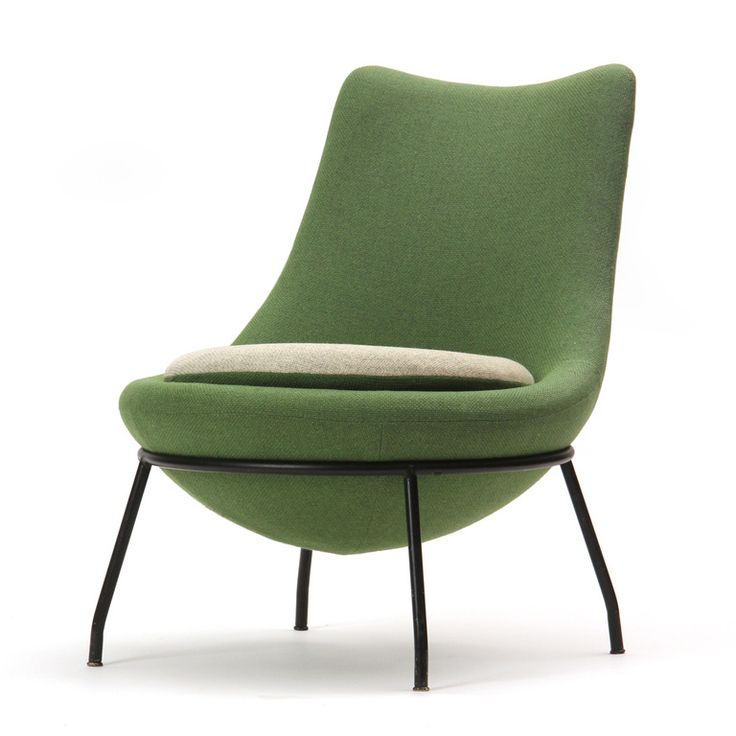 poul volther; painted steel-framed slipper chair, 1950s. HLUXWRP