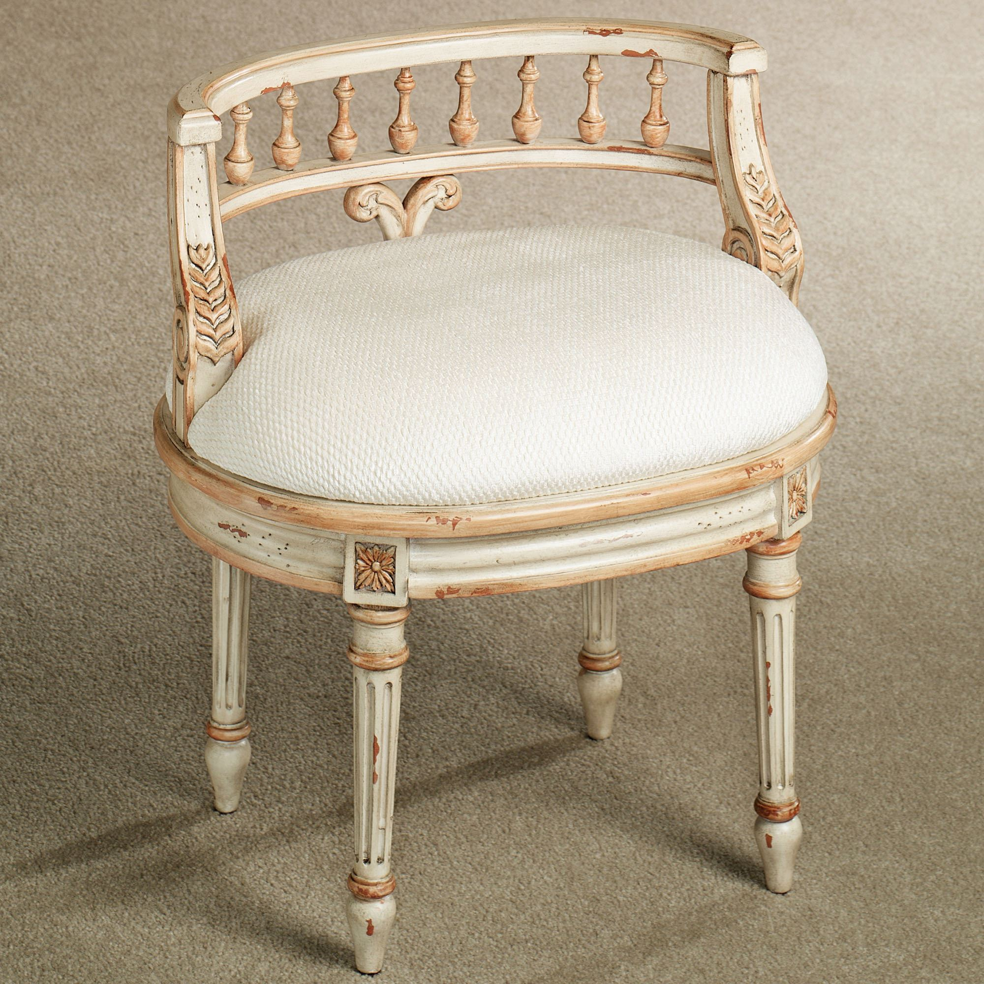 queensley vanity chair antique ivory. click to expand YXDLSLZ